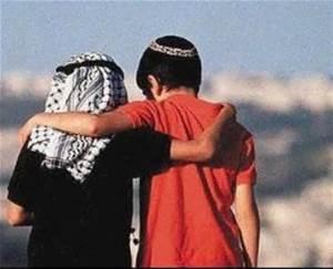 Israel Palestines (Boys Hugging)